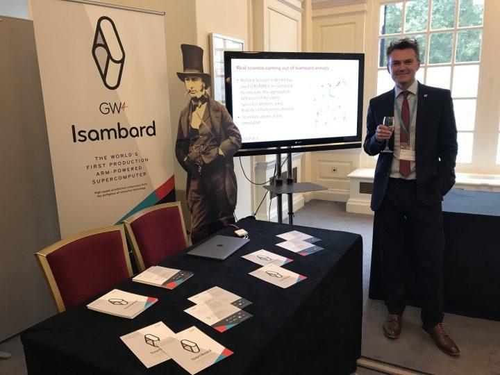 Isambard stand at GW4 anniversary